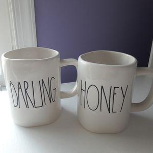 2017 - Rae Dunn DARLING and HONEY mug